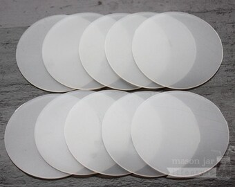 10-pack Leak Proof and Food Safe Silicone Sealing Lid Liners for Regular or Wide Mouth Mason Jars | Mason Jar Lids | Inserts | Food Storage