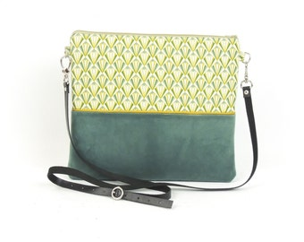 Green Velvet clutch bag