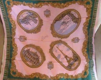 Vintage Paris Tourist Handkerchief