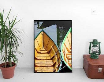 dinghys, gloucester, massachusetts, new england, nautical, fishing, beach house decor, beach house art, photography, fine art print