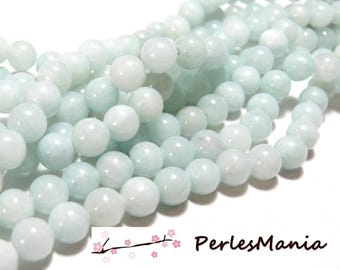 1 strand of approximately 50 beads light blue 8mm color Y04 JADE