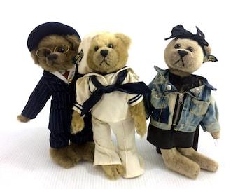 Pickford Bears Plush Brass Button 20th Century Collection Roxy Casey Baxter Vtg