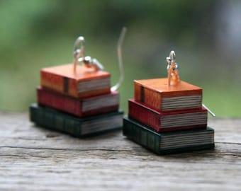 Miniature Book earrings, Classic novel Earrings, Book jewelry, novel jewelry, book geek, book nerd, book lover
