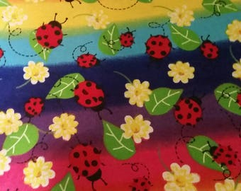 Lady bug changing pad cover