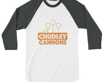 Harry Potter / Quidditch / Chudley Cannons | Harry Potter Inspired Quidditch 3/4 sleeve Tee Shirt | T-Shirt Harry Potter