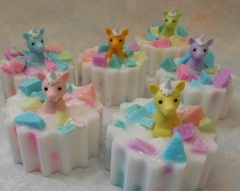 Unicorn Soap - Unicorn Gift - Unicorn Party - Unicorn Party Favor - Unicorn Birthday Party - Magical Party Favor - Novelty Gift - Kids Soap