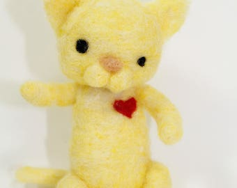 Made to Order Needle Felted Cat