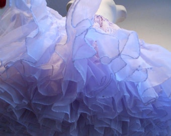 A Girl Goes Swish - Vintage 1940s 1950s Lilac Lavender Two Layer Crinoline Petticoat - 6/8