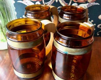 Vintage Siesta Ware Beer Mugs // Set of 4