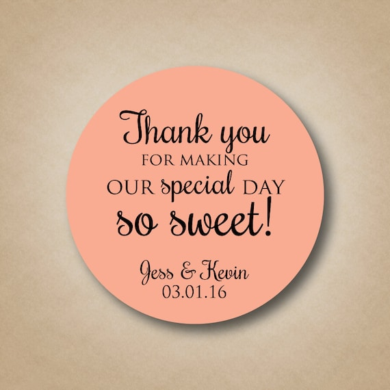 Custom Stickers Wedding Favors