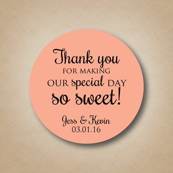 Personalized Stickers Wedding Favors