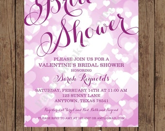 Valentines Bridal Shower Invitations ...1.00 each with envelope