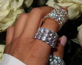 Diamond Eternity Rings, Cz Eternity Ring, Stacking Ring, Kylie Jenner, Statement Ring, silver ring, Eternity Band, Ramadan, Eid-al-Fitr