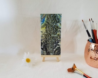 Amoeba.  Acrylic on 3x6 tile.  FREE shipping to USA.  Great gift idea.