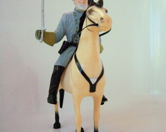 SALE: Gen. Robert E Lee by Hartland Western 800 Series with Horse Traveller 1950's Civil War Military Collectable Toy toys