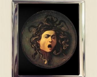Medusa Cigarette Case Business Card ID Holder Wallet Fine Art Painting Greek Mythology Caravaggio
