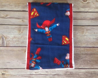 Burp  pads, Superman burp pad, unique baby gift,