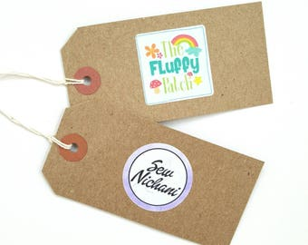 Business Swing Tags - Clothing tags, Logo tags, Clothing labels, Bespoke labels, Packaging, Personalised tags