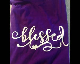 Blessed Personalized TShirt, Monogram T-shirt, Personalized Gift