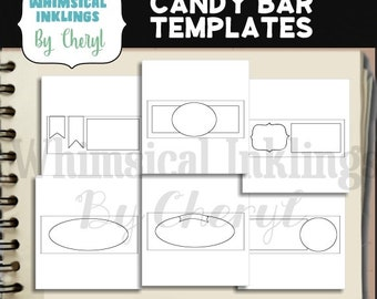 Candy Bar Wrapper Template Collection - Immediate Download