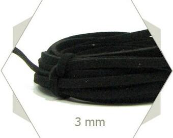 5 m cord suede 3 mm black CS12