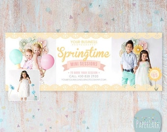 ON SALE Spring Photography Facebook Timeline - Photoshop template - HE005 - Instant Download