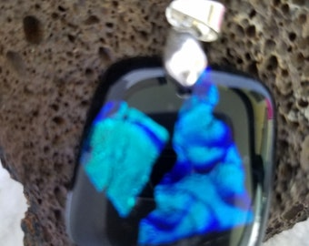Blue Ridges Dichroic Glass Pendant