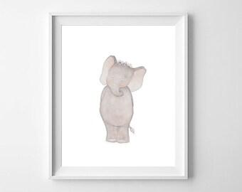 ELephant Nursery Wall Art,Elephant Nursery Print,Elephant Nursery,Girls Nursery, Elephant Baby Room,Elephant Kids Room,Elephant Children Art