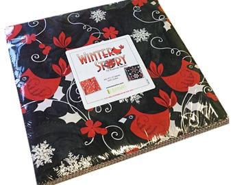 "SALE Fabric Benartex Winter Story Precut 10"" Fabric Squares Quilting Cotton Layer Cake"