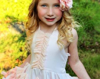 Vintage inspired pink flower headband,pink peony headband, large flower headband, pink baby headband,flower girl headband