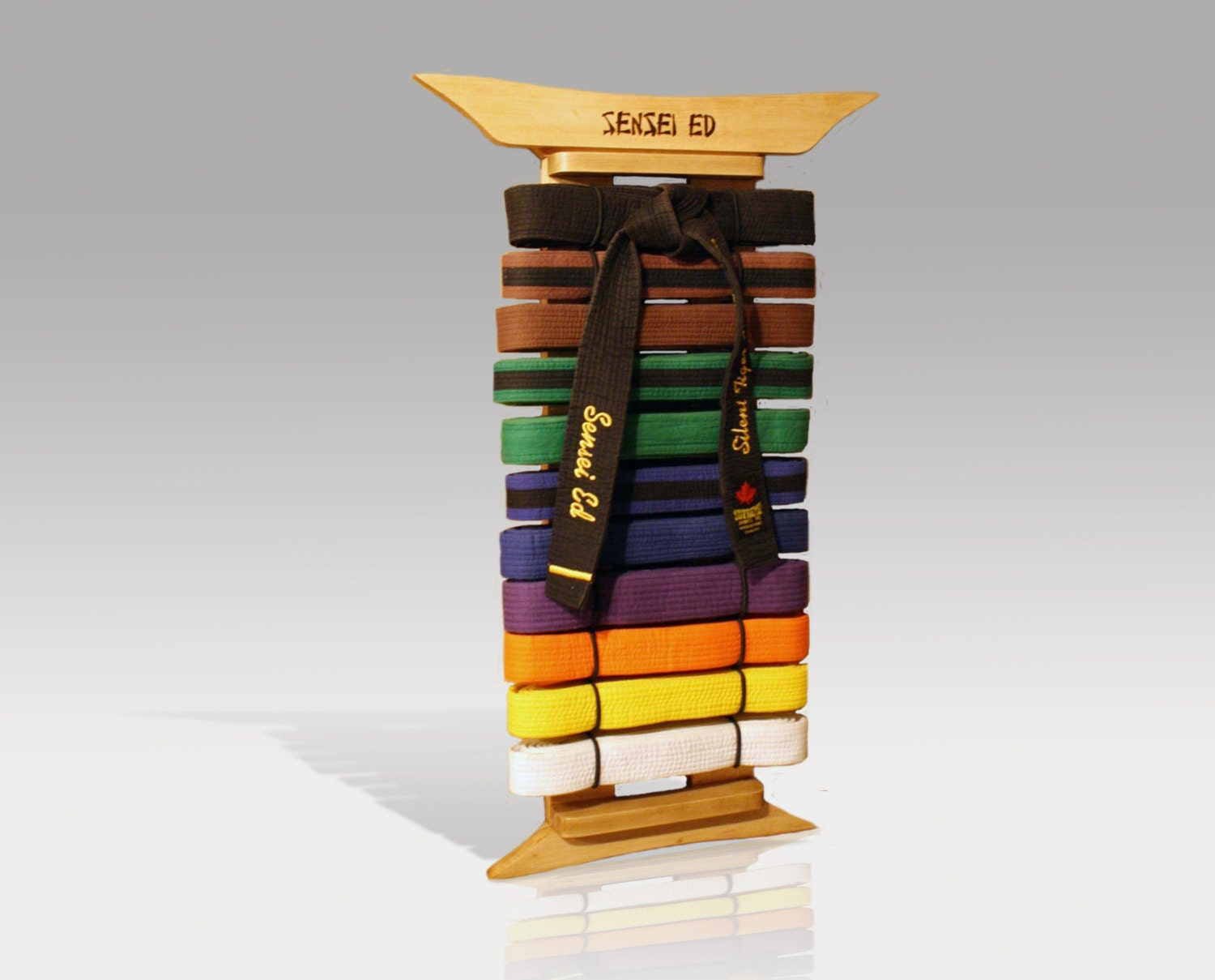 Maple Martial Arts Belt Display Custom Made Personalized