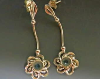 Aquamarine Earrings - February Birthstone Dangle Earrings - Sterling Silver and Aquamarine Drops