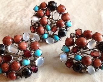Ensemble de bijoux russe Vintage