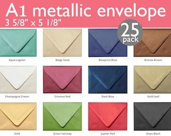 "A-1 (4 Bar) Metallic Euro Flap Envelopes (3 5/8"" x 5 1/8"") (25 Envelopes)"