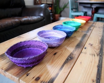 Montessori Sorting Bowls - Chakra Art Bowl Set - Rainbow Basket Set - Yoga Studio Decor - Meditation Room Decoration