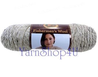 BIRCH TWEED Lion Brand Fishermen's Wool Yarn yarn, 6oz wool blend yarn, Oatmeal, Worsted weight, wool blend yarn fleck brown marble yarn