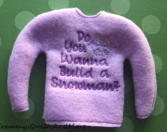 elf doll sweater
