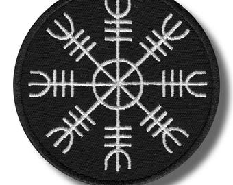 Helm of awe - embroidered patch 8x8 cm