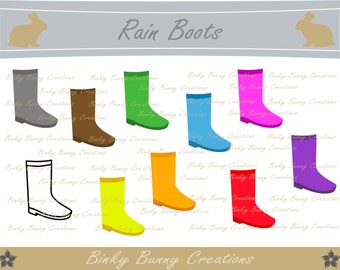 Rain Boots Clip Art Clipart Weather Spring Summer Images Graphics