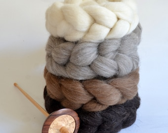 Shetland Wool Combed Top Set - Set of Four - Heritage Breed - 400 grams