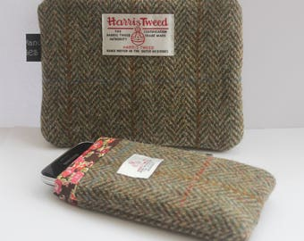 Harris Tweed Cozy, Wool Pouch, Tweed Cases, Phone Cozy, Liberty Pouch, Liberty Cozy, Liberty Cases, Mobile Pouch, Mobile Cover, Phone Cases