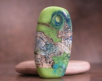 Lampwork Glass Focal Bead, Artisan Glass, Art Glass Focals, Divine Spark Designs, SRA