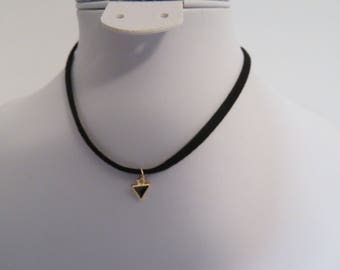 Women chokers necklaces black 1 layer adjustable