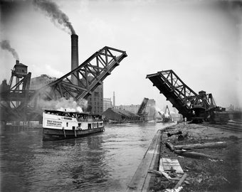 Poster, Many Sizes Available; 12Th Street Bascule Bridge, Chicago, Illinois, Ca. 1905