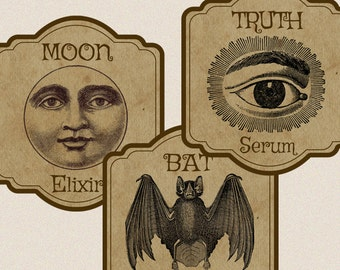 Halloween Apothecary Potion Labels Digital Download