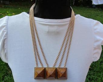 LANVIN PARIS RARE Vintage 70's Couture Runway Necklace