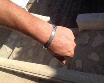Man, stainless steel bracelet.