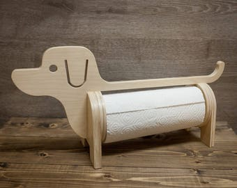 For woodwork rack for toilet paper animal friend :dog - diy