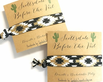 Bachelorette Party Favors - Scottsdale Before the Veil - Hair Tie Bracelet - Bachelorette Party Favor Hair Ties - Wedding Hair Ties Arizona