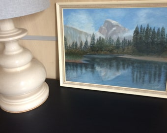 Mid Century Original Signed Painting By P Kent